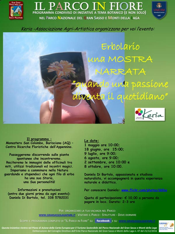 """[:it]Erbolario: una mostra narrata"""". Quando una passione diventa il quotidiano[:] @ Barisciano-Monastero san Colombo"""